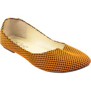 Ballerines en Daim Orange  Noir en Promo (3)