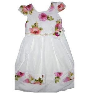 robe blanche fleurette 2