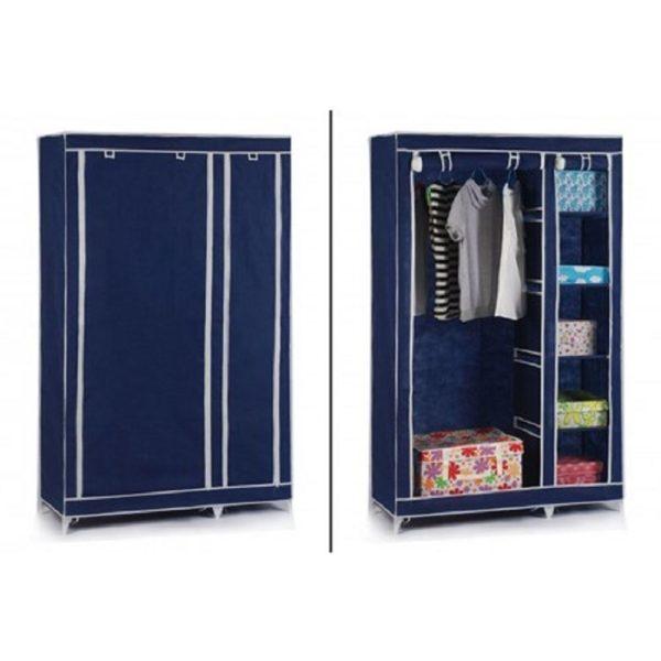 armoire penderie en tissu garde robe 2 portes pas cher. Black Bedroom Furniture Sets. Home Design Ideas