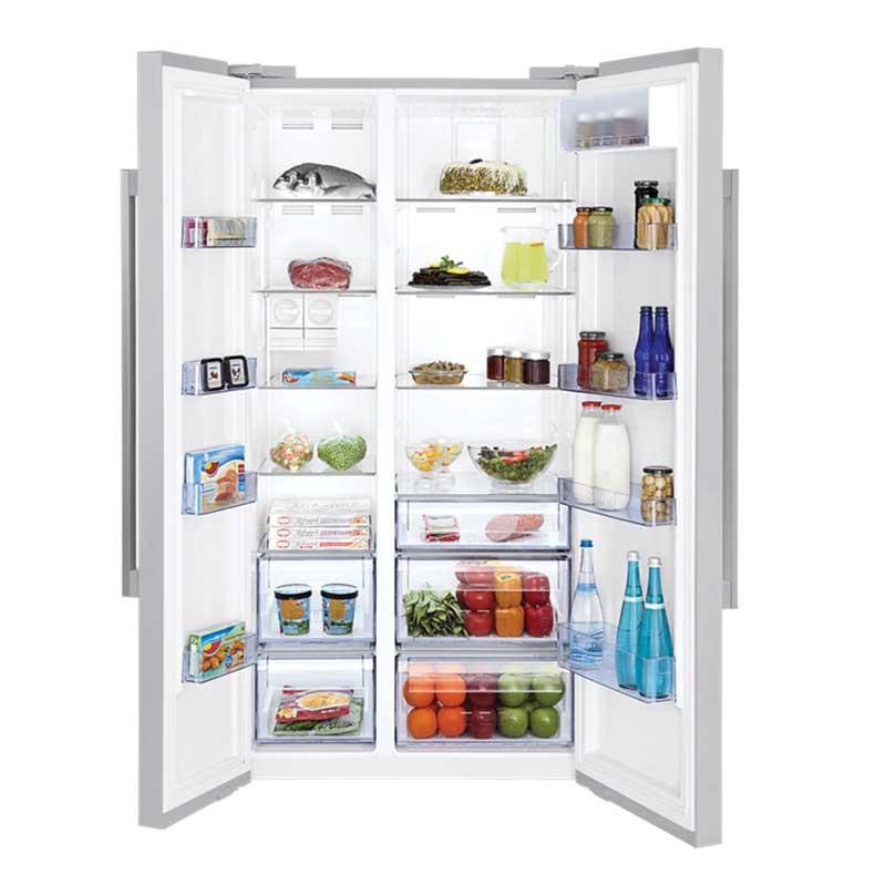 r frig rateur beko side by side 680 litres avec distributeur d 39 eau. Black Bedroom Furniture Sets. Home Design Ideas