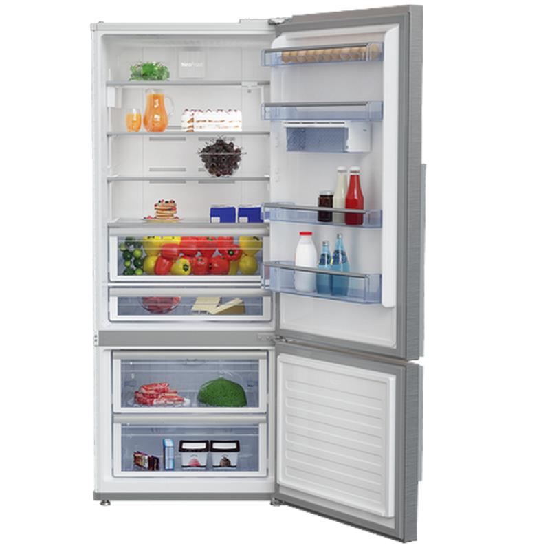 refrigerateur combin beko avec 2 portes cn 164220s. Black Bedroom Furniture Sets. Home Design Ideas