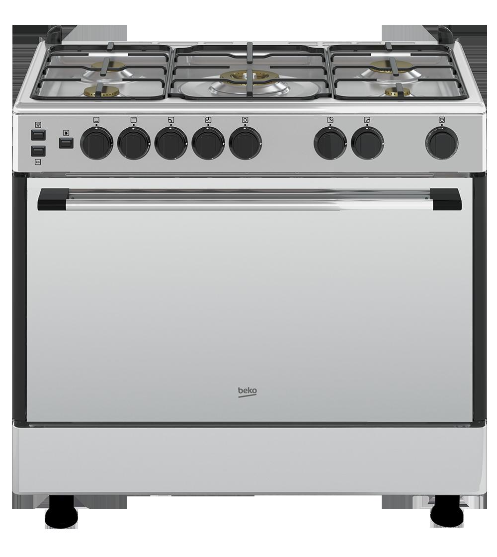Cuisiniere 5 feux beko inox fer en metal - La germania cuisiniere 5 feux ...