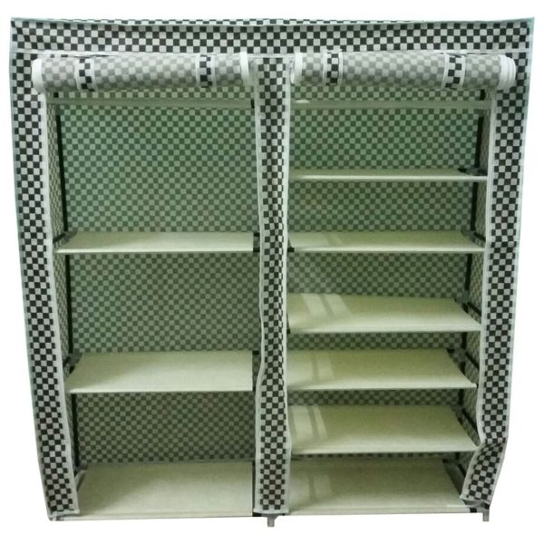 meuble de rangement chaussure deux cabines 11 tag res jusqu 30 paires. Black Bedroom Furniture Sets. Home Design Ideas