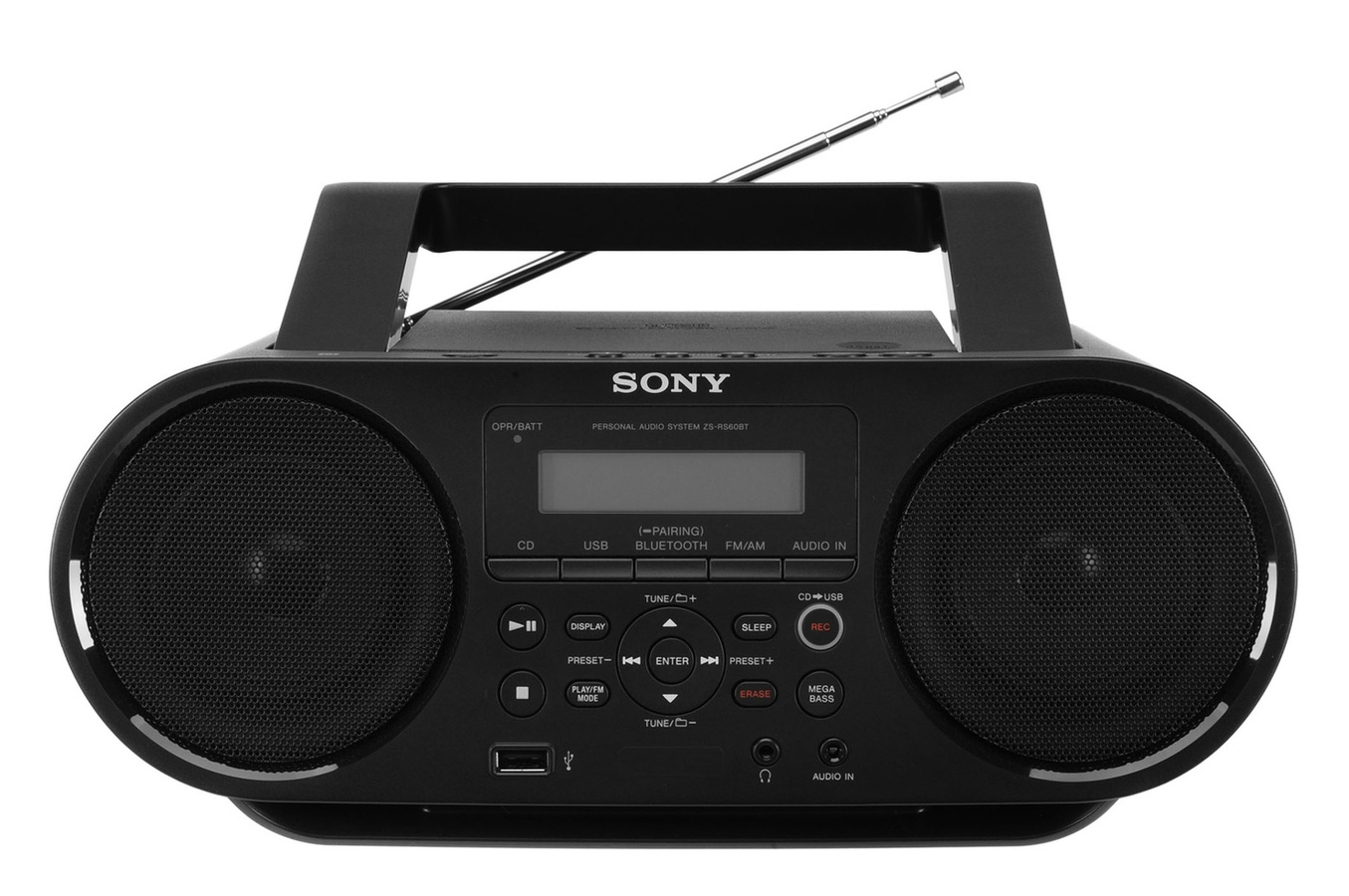 radios et lecteurs cd portables sony boombox cd avec bluetooth zs rs60bt pas cher. Black Bedroom Furniture Sets. Home Design Ideas