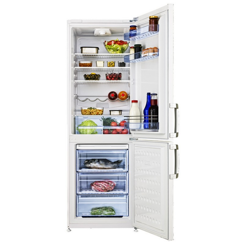 refrigerateur combin beko 345 litres 3 tiroirs pas cher. Black Bedroom Furniture Sets. Home Design Ideas