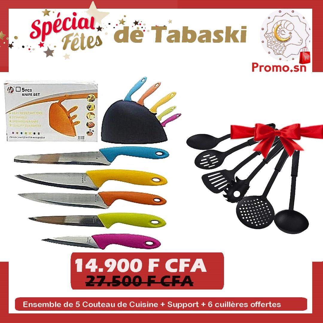 Ensemble de 5 couteau de cuisine support 6 cuill res offertes - Ensemble couteaux de cuisine ...