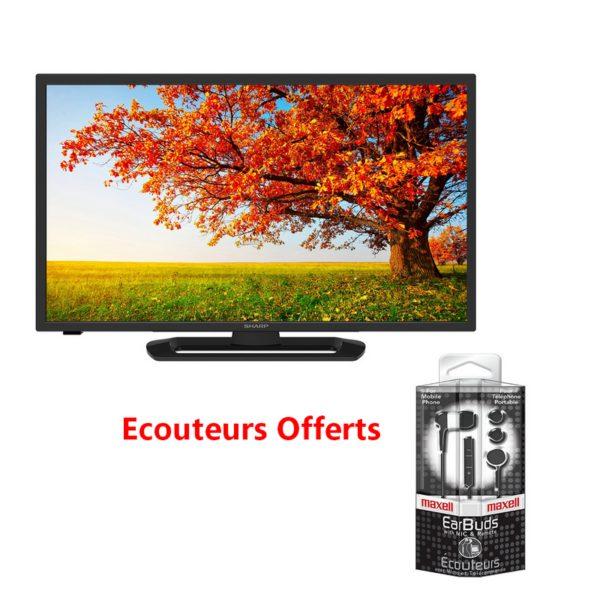 t l vision sharp 32 80 cm led tv avec tnt int gr couteur maxell offert. Black Bedroom Furniture Sets. Home Design Ideas