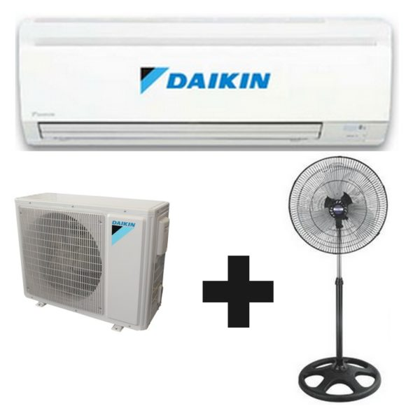 climatiseur split daikin kit tubes 12000 btu ventilateur cadeau. Black Bedroom Furniture Sets. Home Design Ideas