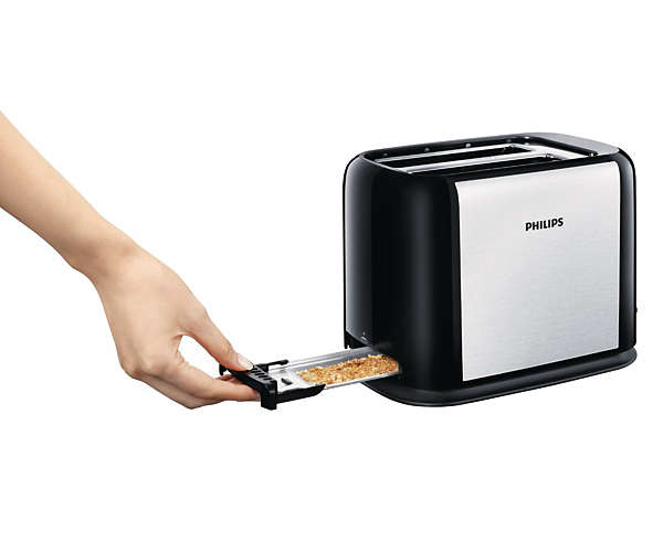 Grille pain toaster philips m tallique compact larges fentes - Grille pain 2 fentes larges ...