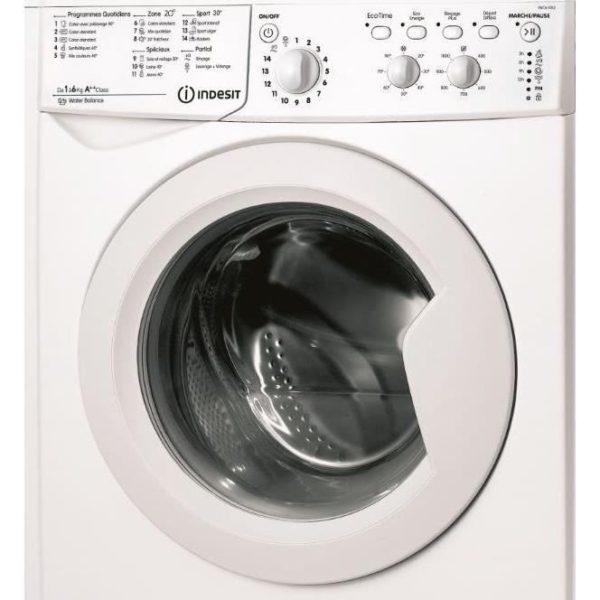 machine laver indesit 5 kilos lave linge frontale petit prix sur. Black Bedroom Furniture Sets. Home Design Ideas