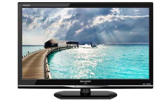 t l vision sharp 60 cm 24 pouces led tv hd lc24le155m petit prix. Black Bedroom Furniture Sets. Home Design Ideas
