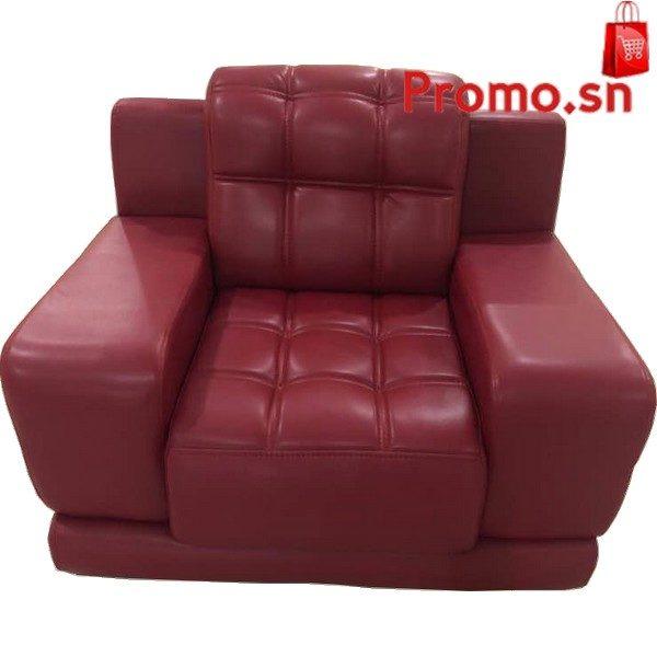 Salon Cuir Rouge : Salon places en cuire rouge coupe bras carré pas cher