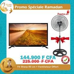 banTV Sharp 80 cm + Ventilateur Offert