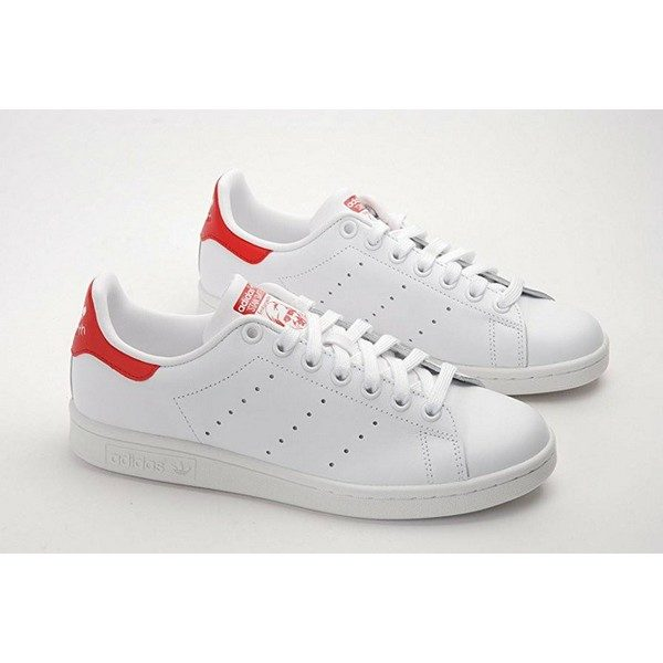 Adidas Stan smith blanc rouge authentique
