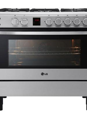 Cuisinière LG à gaz 5 Feux 90x60 Double allumage four et gril simultanément